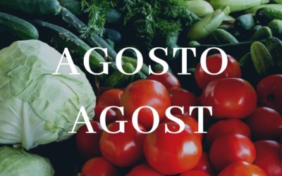 Frutas y verduras de temporada en agosto