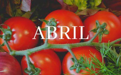 Fruita i verdura d'abril